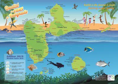 ARS Carte Baignade 2019 Guadeloupe